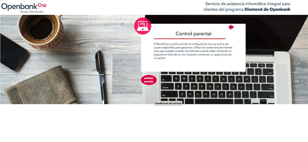 OpenBank control parental